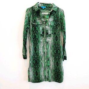 Derek Lam for Design Nation Woodgrain Shirt Dress